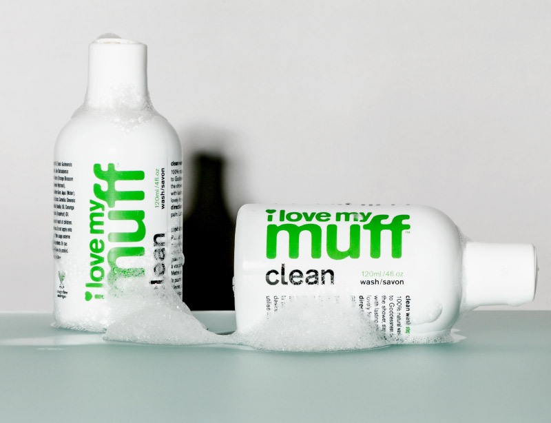 I Love My Muff Clean Green Bottle