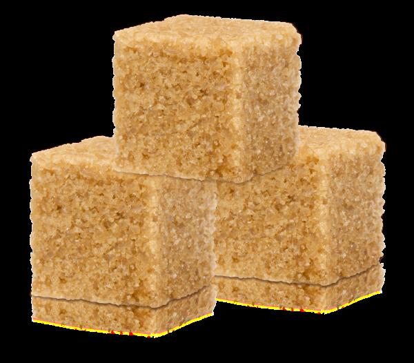 Three Brown Sugar Cubes