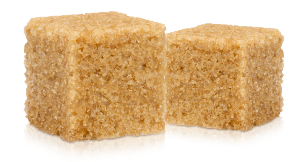 Two brown sugar cubes